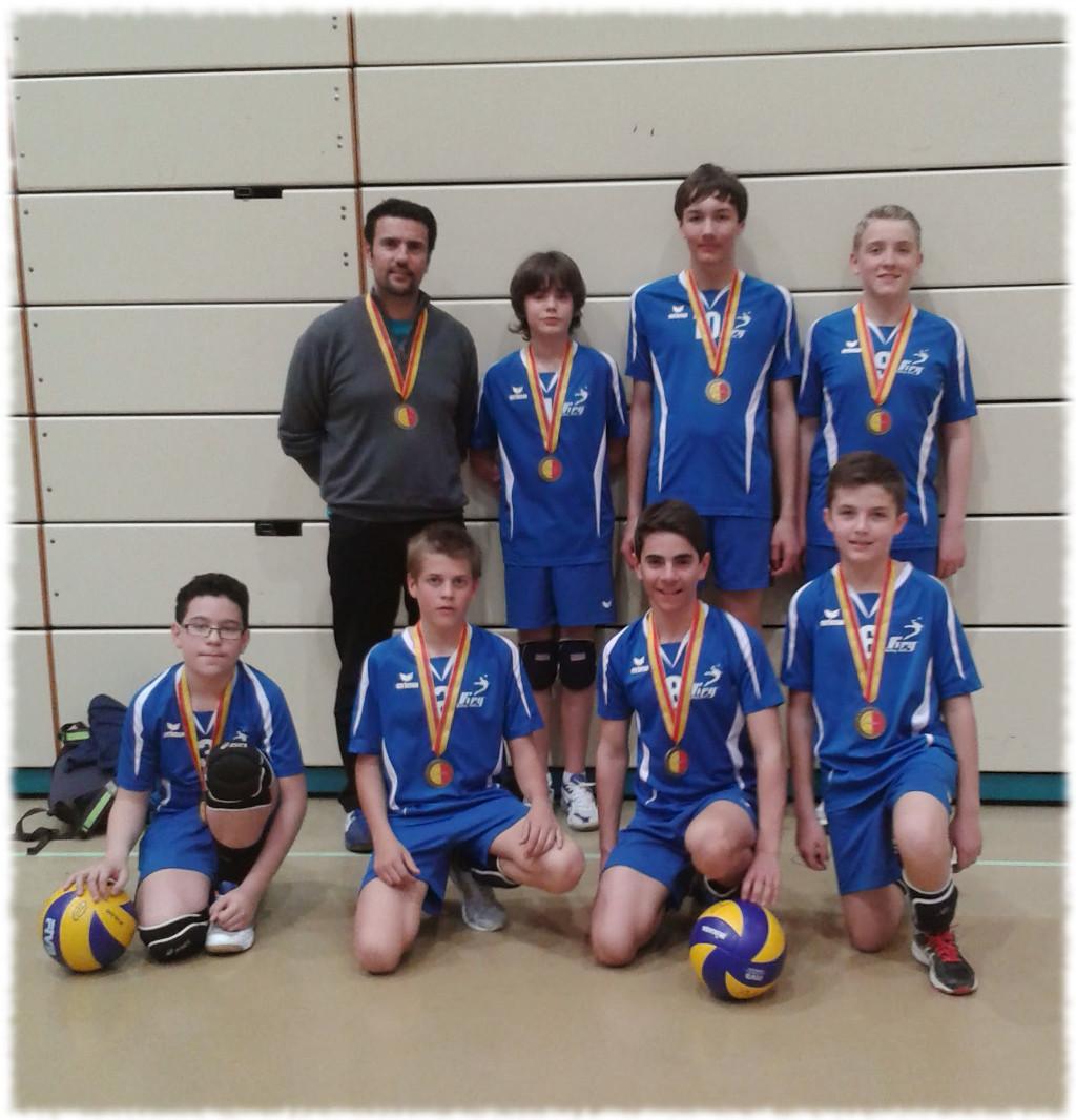 U15 garçons médailles